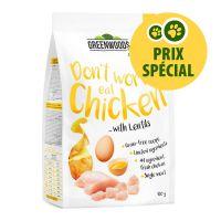 Greenwoods poulet, lentilles, pommes de terre, œuf 400 g pour chat