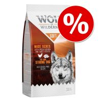 Prémio do mês: 350 g Wolf of Wilderness Soft Wide Acres com frango