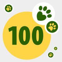 Donazione in aiuto ad animali bisognosi: 100 punti
