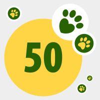 Don de 50 points pour aider les animaux