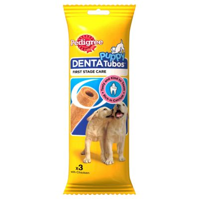 3 Pedigree Puppy Tubos Dog Chews