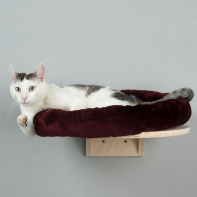 Natural Paradise Wall Mounted Cat Bed - Burgundy