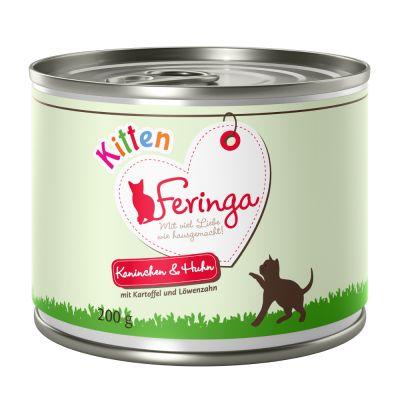 Feringa Kitten 6 x 200 g- Csirke, borjú, sárgarépa & pitypan