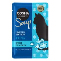 12 x 40 g Cosma Soup Winter-Edition Thunfisch mit Kürbis