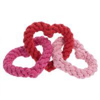 Hundespielzeug Interlinking Rope Hearts