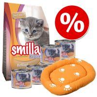 Smilla Kitten kezdőcsomag - Száraztáp + borjú nedvestáp + macskaágy