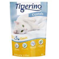 5 l Tigerino Crystals areia absorvente sem aroma