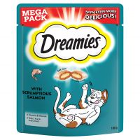 180g Big Pack Dreamies Cat Treats - Salmon