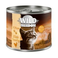 6 x 200g Wild Freedom Kitten Mixed Trial Pack