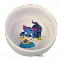 Trixie kattskål av kermaik med seriefigur, 300 ml, Ø 11 cm