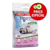 6 kg Tamanho especial: Tigerino Canada areia com aroma a talco