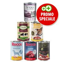 Set prova Rocco, Lukullus, Wolf of Wilderness & zooplus (6 x 400 g)
