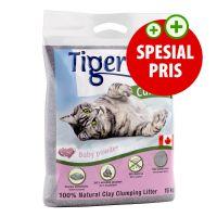 Prøvepakke: 6 kg Tigerino Canada Kattesand Babypudderduft