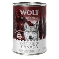 "Mixpakke: 6 x 400 g Wolf of Wilderness ""The Taste Of"""