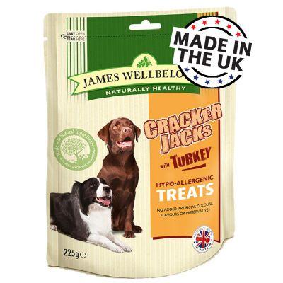 225g James Wellbeloved CrackerJacks Turkey Dog Treats