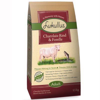 1.5kg Lukullus Dog Food - Charolais Beef & Trout