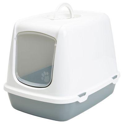 Savic Oscar Toaletă acoperită alb / gri deschis