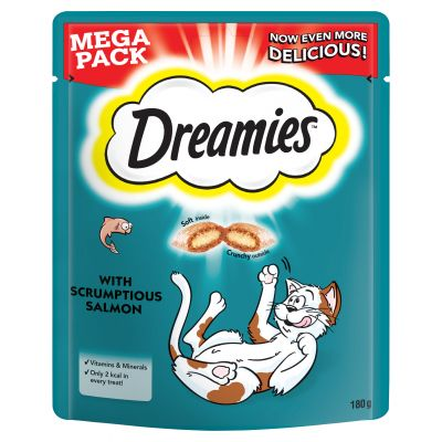 180g Big Pack Dreamies Cat Treats - Salmon