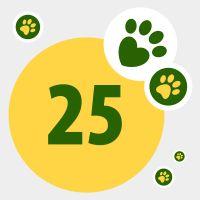 Donazione in aiuto di animali bisognosi: 25 punti