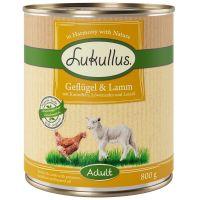 Boîtes Lukullus volaille, agneau - 6 x 800 g