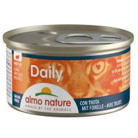 6 x 85 g Almo Nature Daily Menu Häppchen mit Forelle