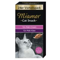 24 x 15g Miamor Cat Snack Malt-Cream & Malt-Cheese Mixed Pack