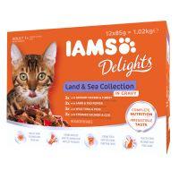 12 x 85 g IAMS Delights Adult em molho combinação de terra e mar