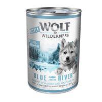 Little Wolf of Wilderness 6 x 400 g Blue River Junior - Kylling & Laks