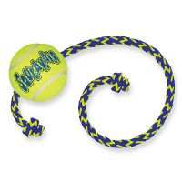 Medium/Large KONG SqueakAir Ball with Rope Dog Toy