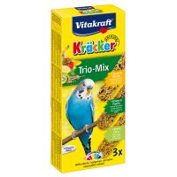 Vitakraft Budgies Crackers Trio-Mix - Sesame Seeds/Herbs/Kiwi