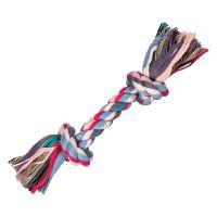 37 cm mit 2 Knoten Trixie Hundespielzeug Spieltau Bunt