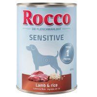 6 x 400 g Rocco Sensitive cordeiro e arroz
