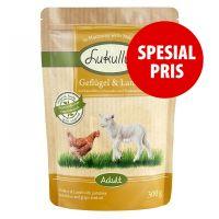 Blandet prøvepakke Lukullus porsjonsposer Kylling + Okse + Lam 6 x 300g