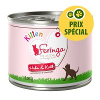 Feringa Kitten 6 x 200 g poulet, veau pour chaton