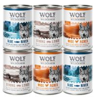 6 x 400g Wolf of Wilderness Classic Adult Mixed Pack II