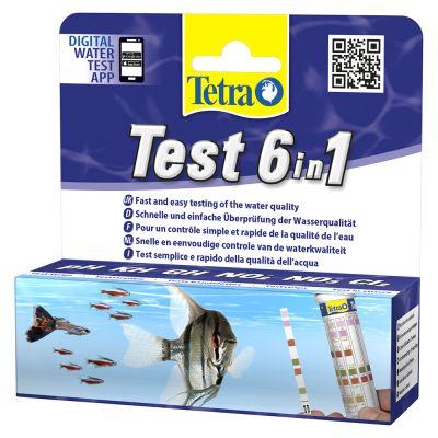 Bandelettes de contrôle de l'eau TetraTest 6 en 1 (25 bandelettes)