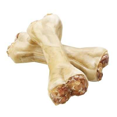 6 x 12cm Barkoo Dog Chew Bones with Pizzle Filling