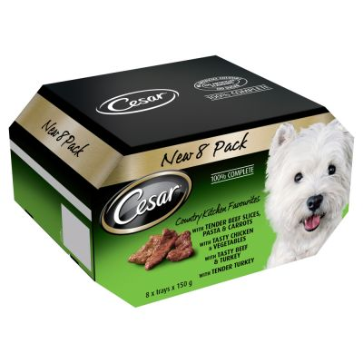 8 x 150g Cesar Country Kitchen Favourites Trays