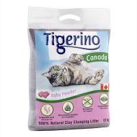 Tigerino Canada Nisip pentru pisici - Miros pudră bebeluși 6 kg