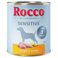 6 x 800 g Rocco Sensitive frango e batata