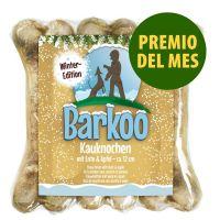 Premio del mes: Barkoo huesos prensados de piel de vacuno 3 x 12 cm