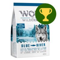 """Reward of the Month - 400g Wolf of Wilderness Adult """"Blue River"""" Salmon"""