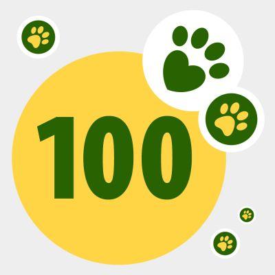 Donation till djur i nöd: 100 zooPoäng
