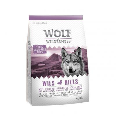 Wolf Of Wilderness Adult 'Wild Hills' kacsa - 400 g