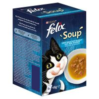 Felix Soup 6 x 48 g, Fish Selection