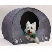 Hunde-iglo av filt - L 71 x B 54 x H 57 cm