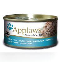 6 x 70 g Applaws Kitten latas em gelatina para gatos