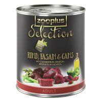 zooplus Selection Adult Bœuf, faisan, oie - 6 x 800 g
