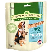 90g James Wellbeloved MiniJacks Duck & Rice Dog Treats
