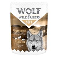Wolf of Wilderness Adult 6 x 300 g - Meadow Grounds - Kylling med kanin